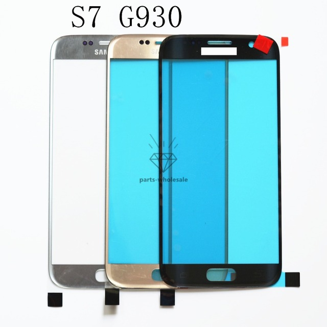 Substituição lcd original frente touch screen outer lente de vidro para samsung galaxy s7 g930 g930a g930f g930t rosa/preto/prata