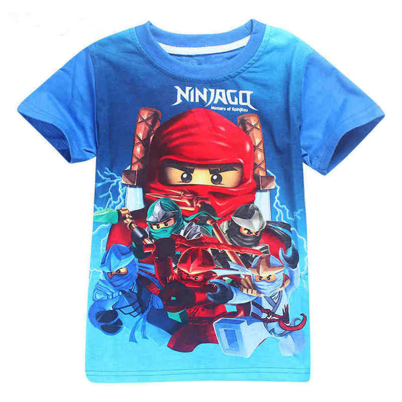 Boys T-Shirts Costume Clothing Ninjago Children Summer for Girls Top-Tees 4-10y title=