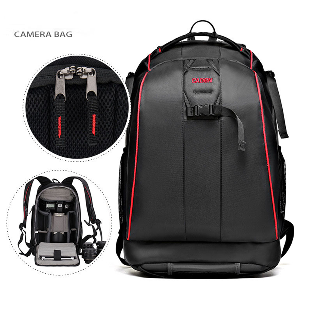 Black Nylon Waterproof Camera DSLR Outdoor Travel Backpack Bag for Sony Canon Nikon Pentax Olympus Cameras lowepro protactic 450 aw backpack rain professional slr for two cameras bag shoulder camera bag dslr 15 inch laptop