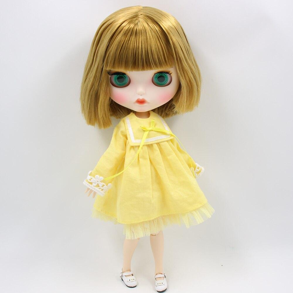 ICY Nude Blyth Puppe Keine. BL0635 Blonde haar Geschnitzt lippen Matte angepasst gesicht Joint körper 1/6 bjd-in Puppen aus Spielzeug und Hobbys bei  Gruppe 3
