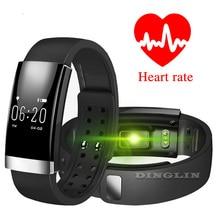 Gzdl Спорт Здоровье Band Bluetooth Смарт-браслет монитор сердечного ритма сигнализации дистанционного Камера Металлический Браслет фитнес-трекер WT8127