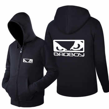 Ectic Spring and Autumn Long Sleeves Hoodies Fleece MMA Badboy Bad Boy Zipper printing Casual Sweatshirts - DISCOUNT ITEM  37% OFF All Category