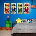 Super Mario Bros Figura Dos Desenhos Animados Japoneses Jogo Pop Art Retro cópia do Cartaz da Parede Pictures Pintura Da Lona Sem Moldura Quarto Dos Miúdos decoração