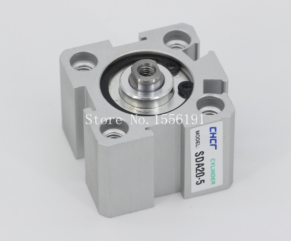 SDA20*5 Airtac Type Aluminum alloy thin cylinder,All new SDA Series 20mm Bore 5mm Stroke