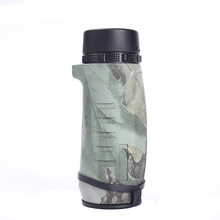 Portable 10x32 Monocular Camouflage HD Waterproof BAK4 Telescope Optical Glass Lens for Outdoor Camping Hiking Hunting