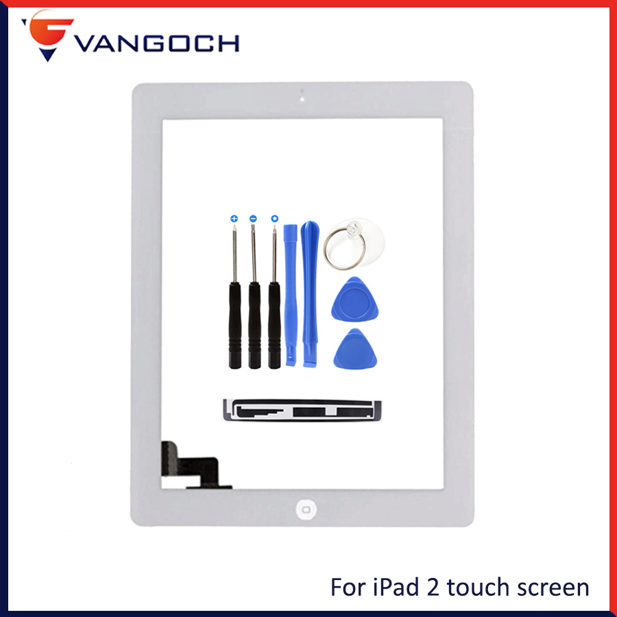все цены на For IPAD 2 3 4  white/black Digitizer Touch Screen Front Display Glass Assembly - Includes Home Button flex and tools gift онлайн