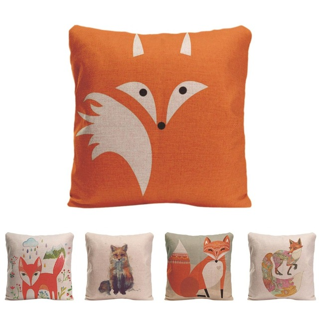 Aliexpress Buy Cute Red Fox Cushion Cover Decorative Pillow Enchanting Cute Cheap Decorative Pillows