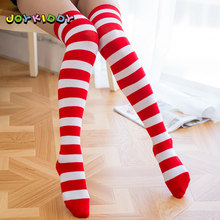 7d4a2f966 Fashion Thigh High Stockings for Girls Spring Summer Red White Striped Over  The Knee Socks Children s Sexy High School Stockings