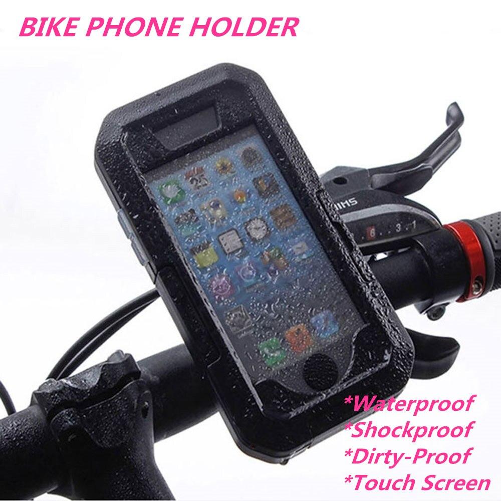 imágenes para Bicicleta de La motocicleta Soporte para Teléfono Móvil Soporte Del Teléfono Soporte Para iPhone7/7 Plus/6/6 s Plus/5/5S/SE Caso GPS Soporte de Bicicleta A Prueba de agua