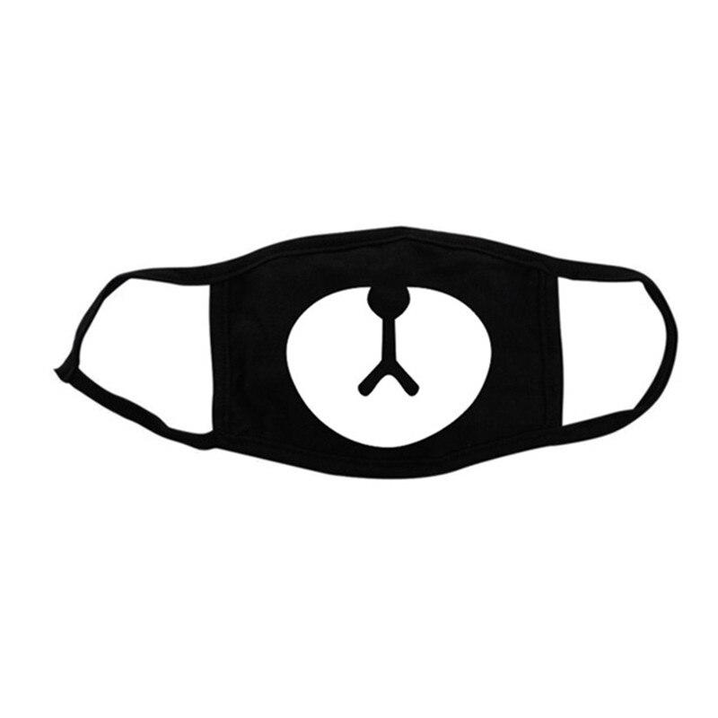 2018 Heißer Verkauf Unisex Cartoon Masken Staub-proof Warme Schwarz Baumwolle Bär Nase Maske Mode Lustige Männer Frauen Druck Gesicht Mund Maske