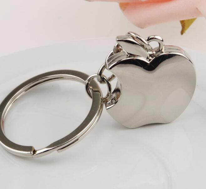 100PCS Novelty Souvenir Metal Apple Key Chain Creative Gifts Apple Keychain Trinket ring car key ring SL6081