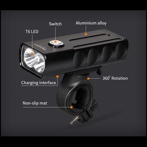 Image 3 - Juego de luces LED delanteras y traseras para bicicleta, linterna T6 18650 de 1000LM, recargable vía USB, MICCGIN