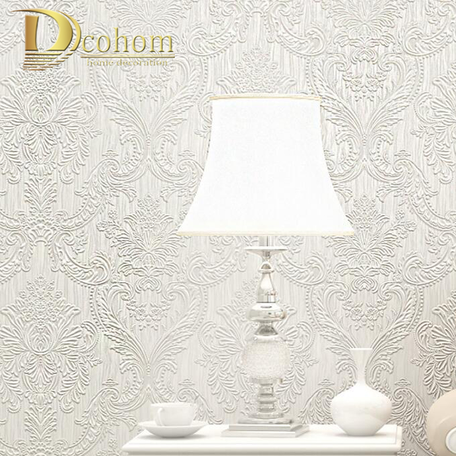 Vintage Luxury Embossed European Damask 3D Wallpaper For Walls Decor Non-Woven Home Wall Paper Rolls For Bedroom Living room