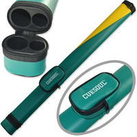 FreeShipping Cuesoul 2014 Brazil Wold Cup Theme Green Yellow Composite Two Tone Pool Cue Tube Case
