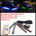 Bluetooth RGB LED strips Flexbile RGB LED Interior Foot Light Atmosphere Lamp Strips LED DRL strips for AUDI A3 S3 A4 A6 A7 A8