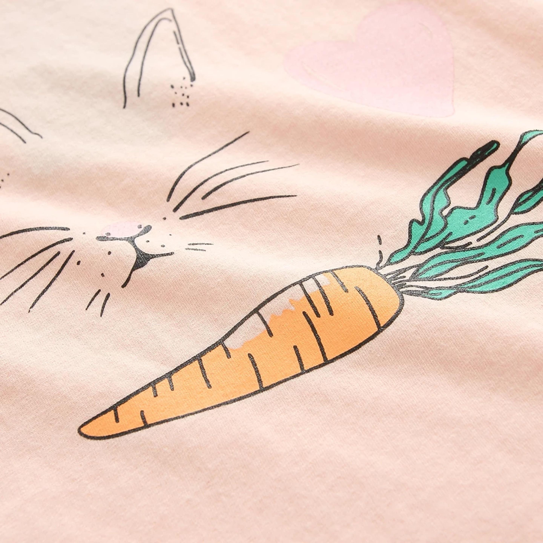 T Shirt For Children Girl Summer Baby Girl Summer Tops Bunny Rabbit
