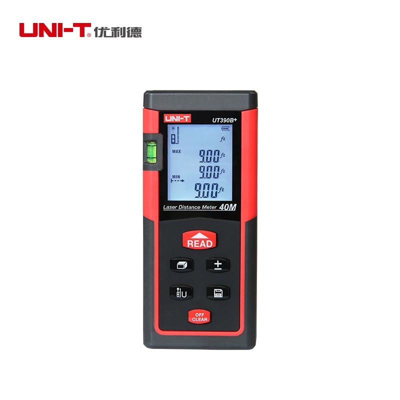 UNI-T UT390B+ Portable Laser Rangefinder 40M Laser Distance Meter Tester Range Finder M/in/ft Area/Volume Calculation