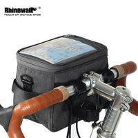 Rhinowalk Rainproof Bike Front Bag Bicycle Handlebar Stronge Bag Touch Screen Cellphone Bag Accessory Panniers