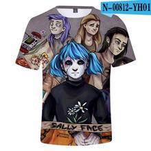 Hot Game Sally face 3D T-Shirts Men/Women Summer New Fashion Print Cool Short Sleeve tees Harajuku Tops