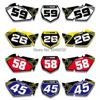 NICECNC Custom Number Plate Background Graphics Sticker & Decal For Suzuki RM125 RM250 2001 2012 2002 2006 2008 RM 125 250