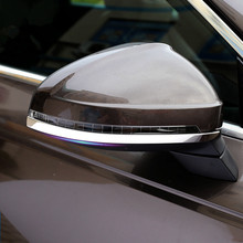 Stainless Steel Rearview Mirror Trim Strips 2Pcs For Audi A4