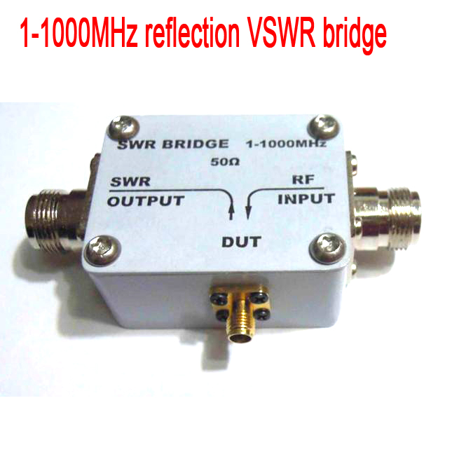 1-1000MHz 1GHz reflection Bridge Standing VSWR Wave/SWR /RF/ Directional /Bridge for Antenna debugging, RF circuit Radio TV1-1000MHz 1GHz reflection Bridge Standing VSWR Wave/SWR /RF/ Directional /Bridge for Antenna debugging, RF circuit Radio TV
