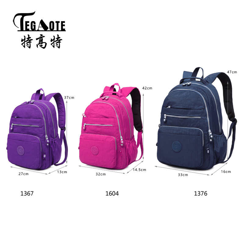 TEGAOTE New Mini Classic Big Children Schoolbags Backpack for Teenage Girls  Boys Nylon Anti theft Backpack Men Travel Laptop Bag-in Backpacks from  Luggage ... d830e1e8458cb