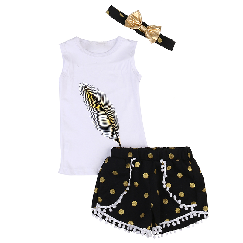 2017 New Fashion Children Clothing Sets Toddler Kids Girls Sleeveless T-shirt O-Neck Tops Girl Tassel Shorts Pants 3pcs Outfits letter print o neck collar short sleeve t shirts rose white shorts girl sets 2017 summer small kids new fashion for girls sets