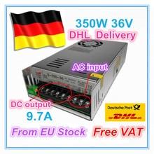 """האיחוד האירופי ספינה/משלוח מע""""מ 350W 36V מתג DC אספקת חשמל עבור CNC נתב פלט יחיד 350W 36V קצף מיל Cut לייזר חרט פלזמה36v supply36v switching power supplydc switching power supply"""