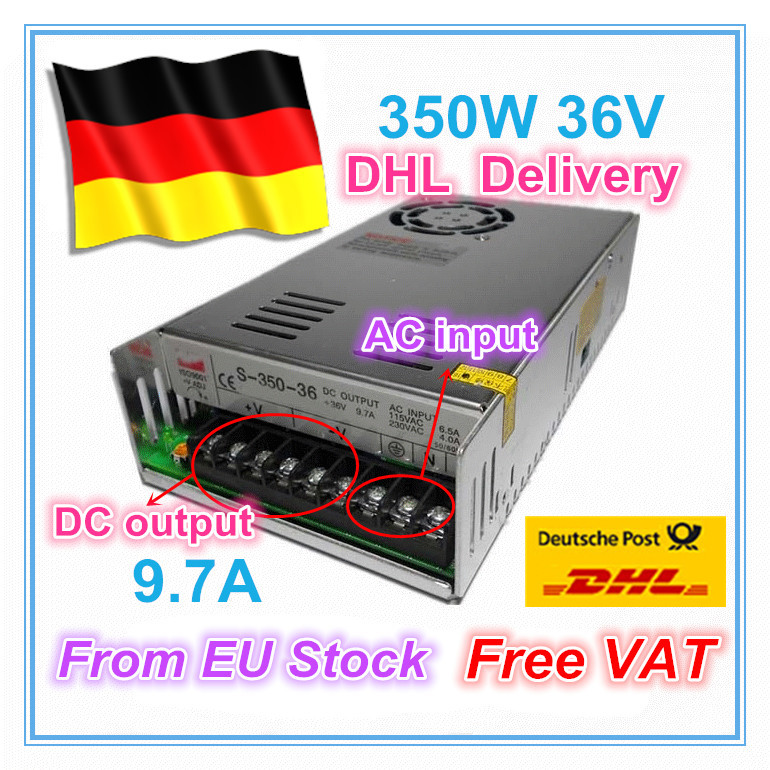 EU ship/free VAT 350W 36V Switch DC Power Supply! CNC Router Single Output  350W 36V Foaming Mill Cut Laser Engraver Plasma