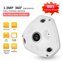 1.3MP IP VR Camera WiFi Network Fisheye 1.44mm 360 Panoramic Wi-Fi Cameras 960P Surveillance CCTV Cam support BOX
