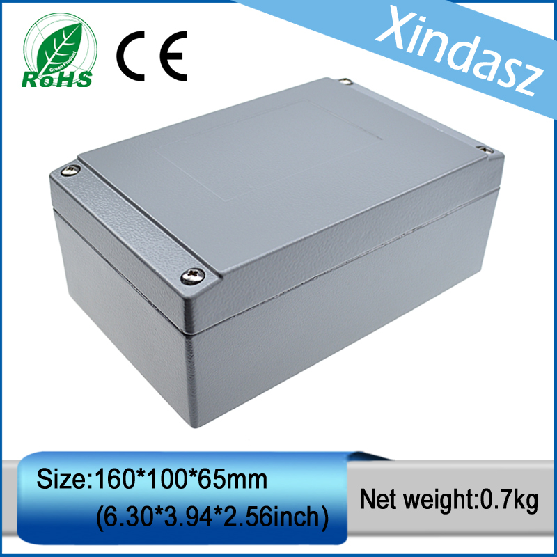 (XD-FA26/XDM05-89)IP66 waterproof electrical box die casting enclosure waterproof electrical junction boxes 160*100*65mm 2015 ip66 electrical aluminium enclosure waterproof box 300 210 130 with 4 screws