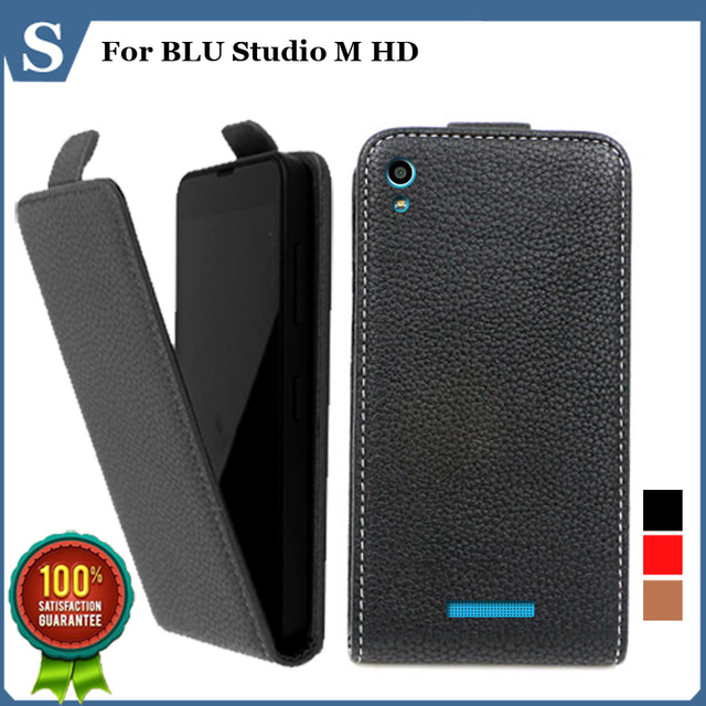 Factory price , Top quality new style flip PU leather case open up and down for BLU Studio M HD, gift