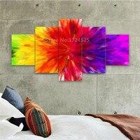 غير المؤطرة 5 أجزاء اللوحة الحديثة جدار الفن قماش مجردة rainbow الملونة الرقمية الصورة ل ديكور المنزل في رخيصة الثمن