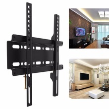 Универсальный холоднокатаной стали ТВ кронштейн для крепления к стене фиксированной плоской Панель телевизор рамки для 12-37 дюймов ЖК-дисплей монитор LED без каблука Панель