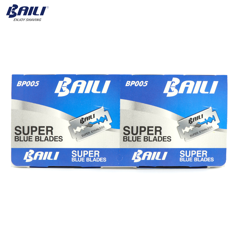 Image 5 - BAILI 200 Pcs/Lot Super Blue Safety Razor Blades Double Edge Shaver Beard Hair Shaving Blades for Men Face Personal Care BP005-in Razor from Beauty & Health