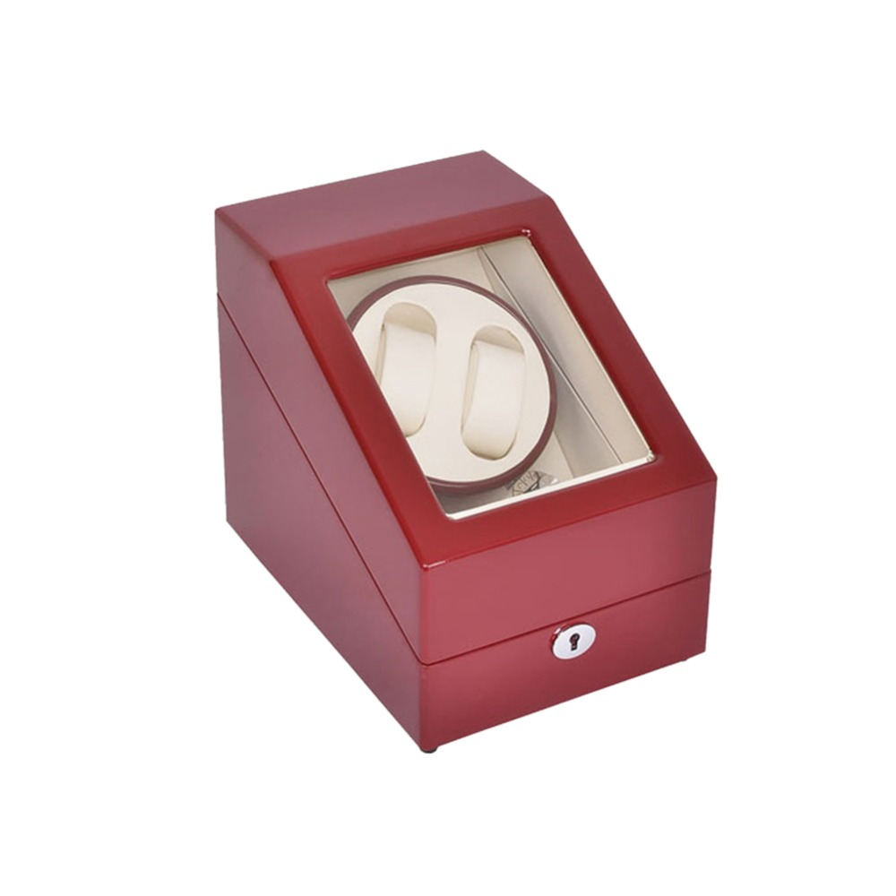 Watch Winder ,LT Wooden Automatic Rotation 2+3 Watch Winder Storage Case Display Box (red-white) ultra luxury 2 3 5 modes german motor watch winder white color wooden black pu leater inside automatic watch winder