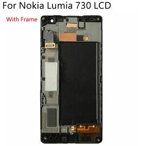 Image 2 - OLED originale Per Nokia Lumia 730 RM 1038 LCD Display Touch Screen Con Cornice Digitizer Assembly di Ricambio Testati Al 100%