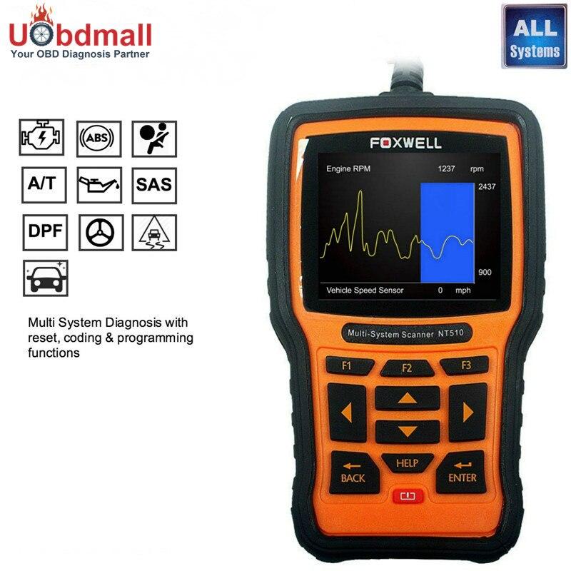 Цена за Foxwell NT510 OBD2 диагностического инструмента для Solaris creta IX35 i30 акцент Tucson Рио K2 Душа Sorento Sportage abs airbag сброс