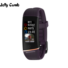 Jelly Comb Men Sport Smart Bracelet Fitness Track Heart Rate Monitor Band Waterproof IP67 Smartband Women Watch for iOS
