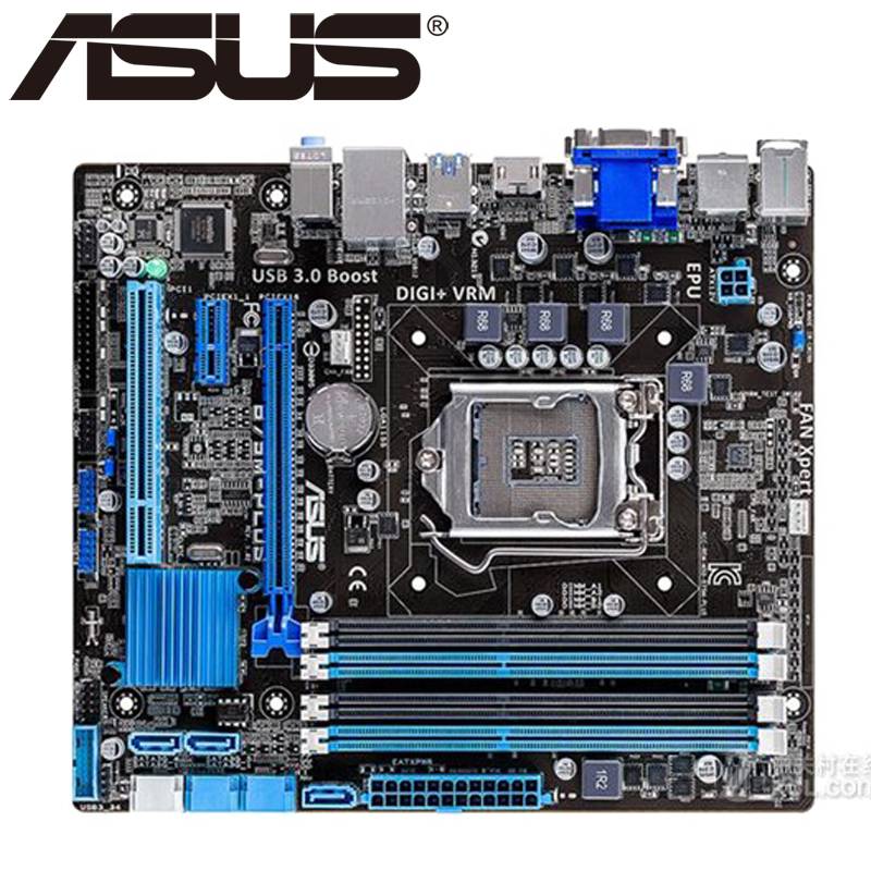 Asus B75M-PLUS Desktop Motherboard B75 Socket LGA 1155 i3 i5 i7 DDR3 16G uATX UEFI BIOS Original Used Mainboard On Sale asus p8z77 m desktop motherboard z77 socket lga 1155 i3 i5 i7 ddr3 32g uatx uefi bios original used mainboard on sale
