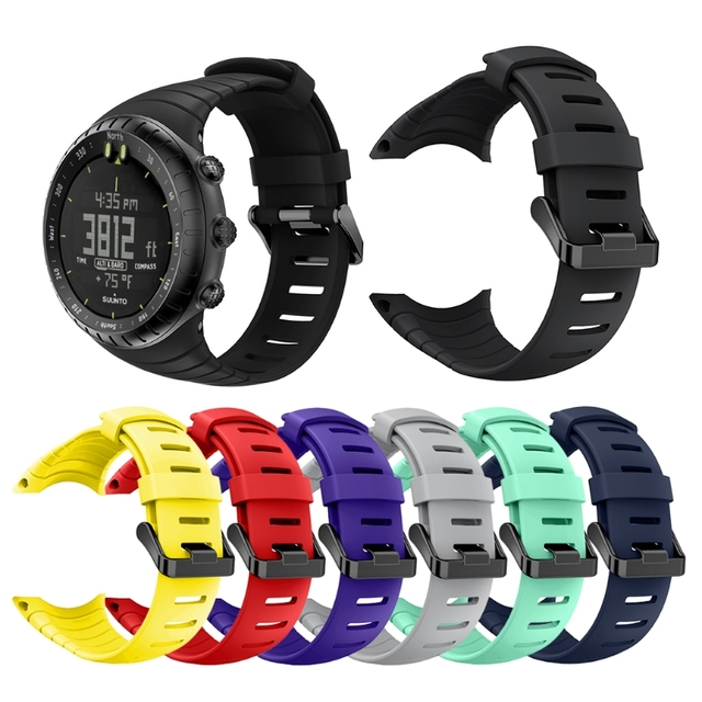 Free delivery Replacement Sport Band For Suunto Core Rubber Soft Watch Strap TPU