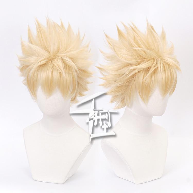 Cosplay Wig My Hero Academia Bakugou Katsuki Bakugo Short Linen Blonde Heat Resistant Baku no Hero Wig