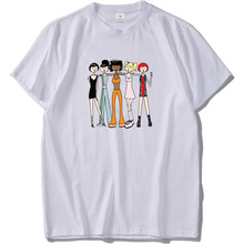 4400f4126 EU Size 100% Cotton T Shirt Popular Combination Spice Girls Tees Cartoon Graphic  Printed Homme