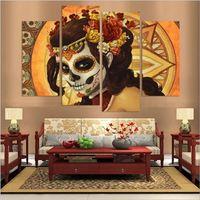Trang Trí trung quốc Mặt Nạ HD Canvas Prints 4 Cái Vẽ Tranh Tường Nghệ Thuật Trang Trí Nội Thất Panels Đối Với Phòng Khách Không FrameT2