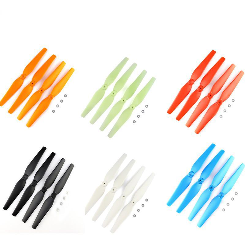 Colorful Propellers For Syma X8 Parts X8c X8w X8g X8hg X8hw Rc Helicopter Screws Rc Quadcopter Blade Parts Drones Spare Parts propeller protective guard landing skid for x8c x8w x8g x8hg white