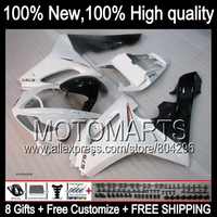 Bodys For TRIUMPH 675 Daytona 675 09 11 10 09 White black 11 41JK26 Daytona675 2009 Gloss white 2010 2011 Fairing