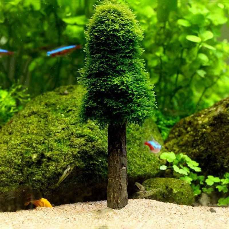 Acuario tanque paisaje simulación Navidad musgo árbol de Navidad planta cultivo acuario decoración suministros