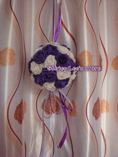 Novo !! 12pcs X (20cm) umetno viseča cvetlična kroglica poročna - Prazniki in zabave - Fotografija 3