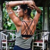 Lucylizz Sexy Backless Yoga Shirt Top Sport Tragen für Frauen Gym Top Fitness Sport T Hemd Frauen Atmungsaktive Workout Tops